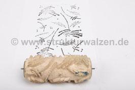 Musterwalze 2016-3646 mit abstraktem 60er 70er Jahre Muster - 15cm -  (K18.6)
