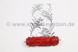 Musterwalze 2018-2856 mit schönem floralem Muster / Gräser  (40er 50er Jahre) - (K18.18)
