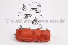 Musterwalze 2018-2120 - Motivwalze mit Küchenmuster - Karaffen - Krüge - Kannen - 15cm -  (K18.18)