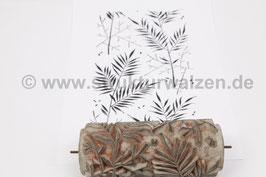 Musterwalze 2021-1191 mit eckigem Blättermuster (40er 50er Jahre) - (K19.5)