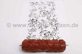 Musterwalze 2018-0322 mit floralem Muster Blütten  - Breite 15cm - (K18.14)