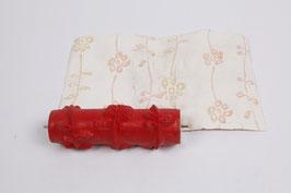 Musterwalze 2019-4336 mit Streifen und Blütenmuster Blüten mit Originalvorlage / Musterblatt (50er 60er Jahre)