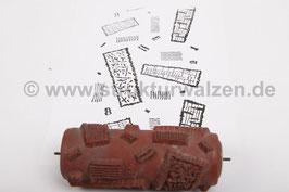 Musterwalze 2016-3778 mit abstraktem 60er 70er Jahre Muster - 15cm -  (K18.9)