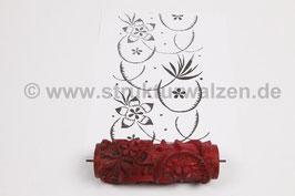 Musterwalze 2019-0071 mit Blumen / Blüten - 15cm - (K18.13)