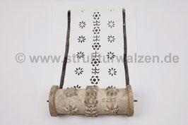 Musterwalze 2020-2129 mit kleinen Blüten als Flächenmuster oder Bordüre / Borte - 15cm - (K21.1)