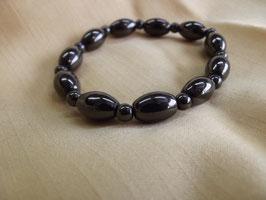 Hematite (Bracelet boule olive)
