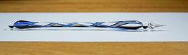 Glasfeder Spirale / Blau-Weiß
