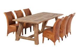 Landhaustisch aus altem Eichenholz Variante-4