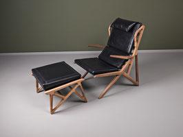 Sessel Triangel mit Hocker