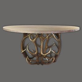 Esstisch Diana mit Eichenplatte