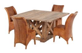 Quadratischer Esstisch aus Eiche Variante 6