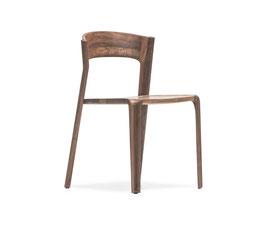 Stuhl PRIMUM Sitz Holz / Gewebe