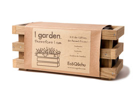 "KIT DE CULTIVO DE AROMATICAS ""I GARDEN, THEREFORE I AM"""