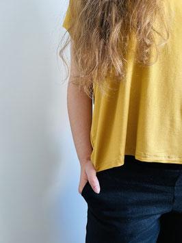 Oversize Shirt Senfgelb