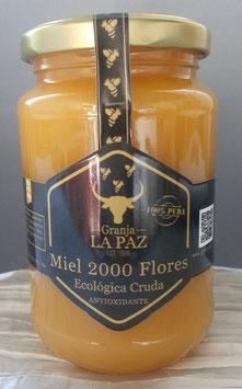 """Miel Cruda Ecológica 2000 Flores """"Granja La Paz"""" sin pasteurizar"""