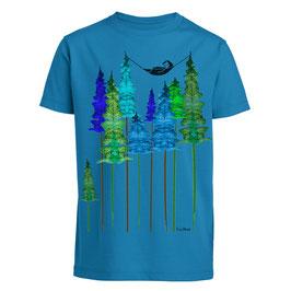 Wood Kindershirt blau unisex