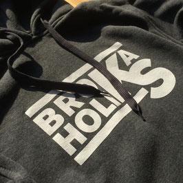 BROKA-HOODIE (dunkelgrau + weißes Logo)