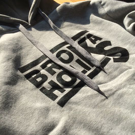 BROKA-HOODIE (hellgrau + schwarzes Logo)