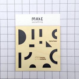 AlphaMaker : Shapes Stencil
