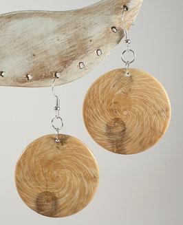 Boucles d'oreille en bois de buis