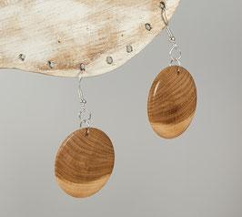Boucles d'oreilles en bois d'acacia