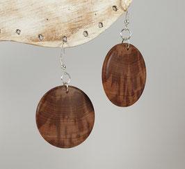 Boucles d'oreille en bois de prunier