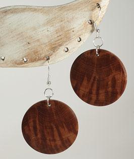 Boucles d'oreilles en bois de prunier