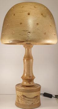 Lampe en bois multi essences