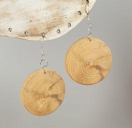 Boucles d'oreilles en bois de buis