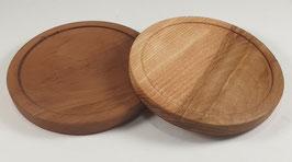 Lot de 2 sous-verres en bois de poirier et frêne