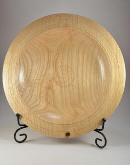 Assiette décorative en bois de frêne