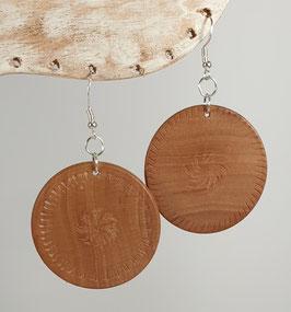 Boucles d'oreille en bois de cerisier