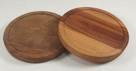 Lot de 2 sous-verres en bois de platane et prunier