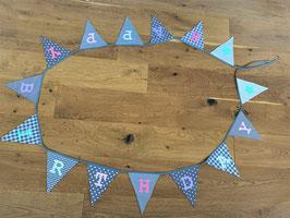 Wimpelkette / Girlande 'Happy Birthday'