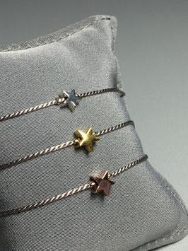 Seidenarmband mit Stern (klein)  - UNIK