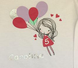 Geburtstagsshirt für Mädchen - individuell