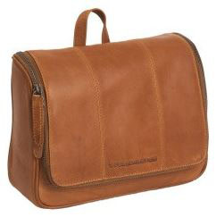 Kulturtasche Leder Chesterfield Modell Gillian in Cognac