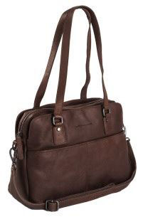 Bowlingbag aus Leder Chesterfield in Braun - Modell Barcelona