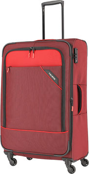 Reisetrolley Travelite 77cm, Derby in Rot mit Vierrad