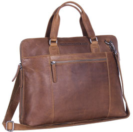 Officebag Leder Chesterfield Hana Cognac