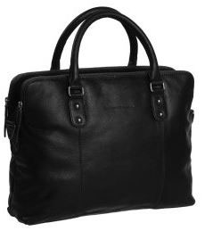 Ledertasche|Businesstasche Chesterfield Schwarz - Modell Stephanie