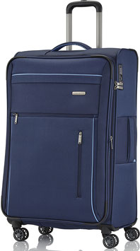 Reisetrolley Travelite 76cm, Capri in Blau mit Vierrad