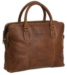 Ledertasche|Businesstasche Chesterfield Cognac - Modell Stephanie
