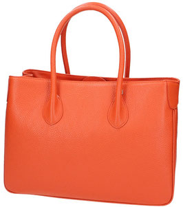 Ledertasche Maxima Orange 34 x 23 cm