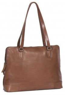 Ledertasche|Businesstasche aus Leder Chesterfield in Cognac - Modell Flint