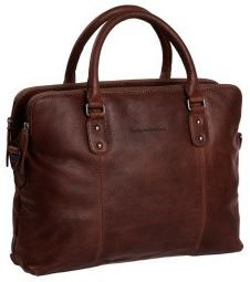 Ledertasche|Businesstasche Chesterfield Braun - Modell Stephanie