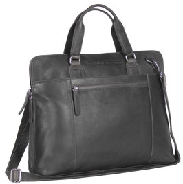 Officebag Leder Chesterfield Hana Schwarz