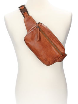 Bear Design Bodybag|Bauchtasche in Cognac