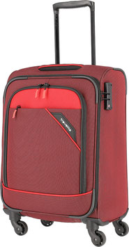 Reisetrolley Travelite 55cm, Derby in Rot mit Vierrad