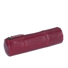 Stiftetui Leder Chesterfield Don Rot